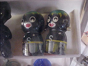 wooden golliwog shakers
