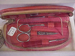 Bakelite manicure set