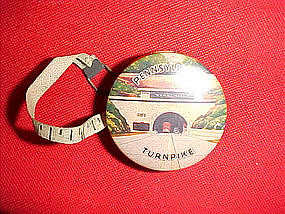 celluloid tape measure of Pennsylvania Turnpike