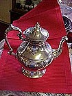 silver on copper tea pot