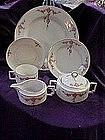 H&C Bavaria Selb china dinnerware roses swag & garland