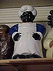 Black chef cookie jar