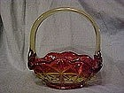 Indiana Tiara Monticello amberina glass basket