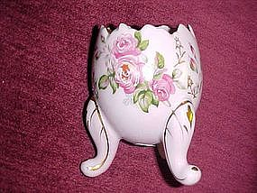 Lefton hand painted egg vase