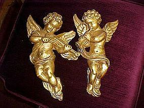 Chalkware angels wall decorations