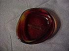 Opalex amberina ashtray-Hotel Terminus-Gruber
