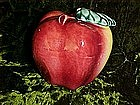 Old pottery apple figurine