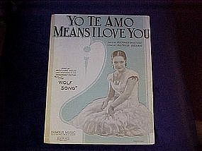 Yo Te Amo Means I love you