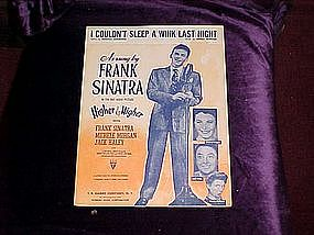 I Couldn't Sleep a wink last Night, Frank Sinatra