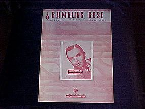 Rambling Rose, sheet music