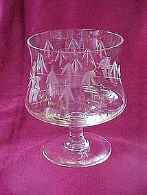 "Noritake ""Bamboo"" wine glass"