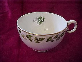 "Hall Superior ""Cameo Rose"" footed cups"