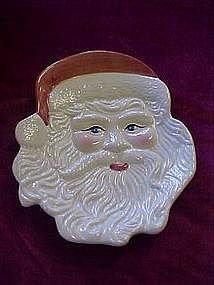 Large Santa head serving plate
