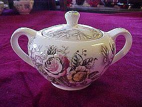"Nasco Japan ""rosevine"" covered sugar bowl"