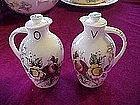 "Nasco ""rosevine"" vinegar and oil cruet set"