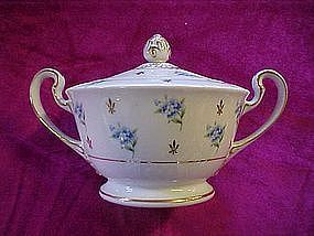 "Noritake ""remembrance covered sugar"
