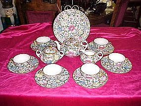 Oriental chintz tea Set - service for six