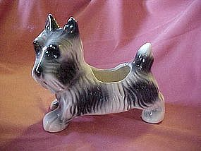 Old pottery scotty dog planter