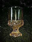 "Cornsilk yellow Tiffin Madeira water goblets 5.5"""