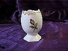 Egg vase with rose decoration