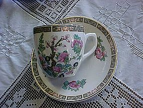 Indian  tree  demi cup and saucer by Wedgewood
