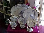 "CBC china platinum dinnerware pieces ""oriental pattern"""