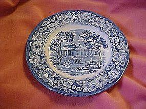 Staffordshire Liberty blue desert plate