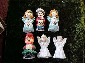 Gurley Christmas candles,angels,caroler,drummer boy