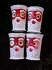 Plastic Santa drinking glasses with moveable eyes