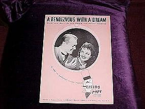 Rendezvous with a dream, sheet music from Poppy 1937