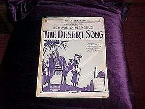 The Desert Song, sheet music 1926