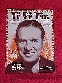 Ti Pi Tin, sheet music 1938