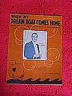 When my dream boat comes home, sheet music 1936