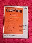 Cradle Song, Sheet music 1939