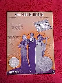 September in the rain, from Melody for Two