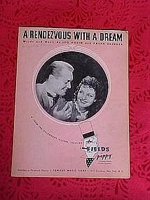 A Rendezvous with a dream, sheet music 1936
