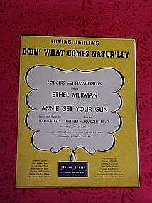Doin' what comes natur'lly, sheet music  1946