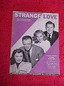 Strange Love, sheet music 1946