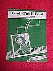 Fool Fool Fool, sheet music 1952