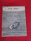 Rag Doll, sheet music 1928