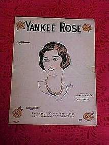 Yankee Rose, sheet music 1926