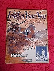 Feather your Nest, sheet music 1920