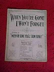 When you're gone I won't forget, 1920