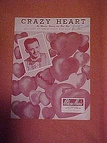 Crazy Heart, sheet music 1951