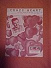 Crazy Heart, sheet music 1951