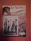 Ole Faithful, sheet music 1934