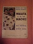 Songs of the Maori people, Waiata o te Iwi Maori, book