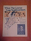 When the leaves come tumbling down, sheet music 1922