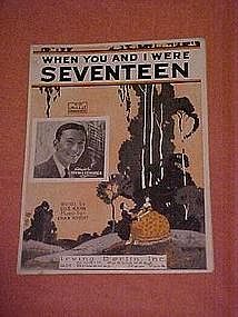 When You and I were Seventeen, sheet music 1925