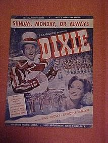 Sunday, Monday, or Always, sheet music 1943